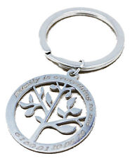 Love Family Tree of Life Personalised Keyring Custom Engraved Text Key Dad Gift