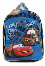 "SALE Backpack 14"" Disney Cars McQueen Mater Friends To The Finish Line Boy New"