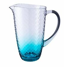 Clear Turquoise Tint Jug Hammered Acrylic Effect
