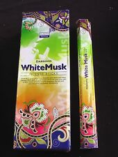DARSHAN INCENSE 6 HEXAGONALS BOXES 120 STICKS WHITE MUSK SCENT