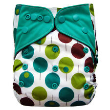 EcoAble Baby Charcoal Bamboo AIO All-In-One Cloth Diaper with Pocket, Trees