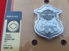 RARE NOS OBSOLETE GENUINE HARLEY POLICE OFFICER #1 FENDER MEDALLION BADGE EMBLEM