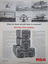 5/1973 PUB RCA NAV COM SYSTEMS BO-105 FALCON 10 CESSNA 414 KING AIR ORIGINAL AD