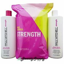 Paul Mitchell  Super Strong Daily Shampoo & Conditioner Liter Duo (New Package)