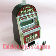 RECZONE CASINO ELECTRONIC VIDEO GAME 5-in-1 POKER BANK