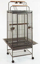 NEW Double Ladders Open Play Top Wrought Iron Parrot Macaw Bird Cage 888