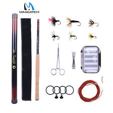 13FT Tenkara Rod Kit Telescopic Fly Fishing Pole, Flies, Line, Box Ready To Fish