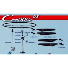 BMI 0350-001 CARBOOON DX STABILIZER FLYBAR WITH WEIGH set stabilisateur (oo)