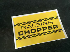 Raleigh Chopper MK1 Seat Back Plate Decal - Gloss Black on Golden Yellow