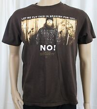 Duck Dynasty Jase Let Me Put This in Spanish For You...NO! Medium Brown T-Shirt