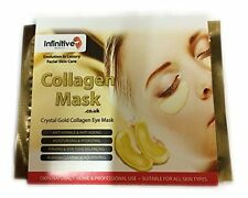 IB 3 x Pack New Crystal 24K Gold Powder Gel Collagen Eye Mask Masks Sheet Patch
