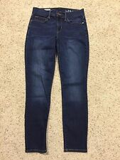 Gap 1969 LEGGING JEAN size 27 Slim/Skinny ANKLE LENGTH Santa Cruz Blue  B7