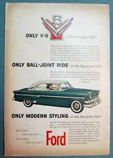 Original 1954 Ford Crestliner Victoria Car Ad  ONLY MODERN STYLING IN LOW PRICE
