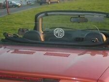 MG MGF MGTF CLEAR WIND DEFLECTOR STOP No Drilling fitted in minutes.