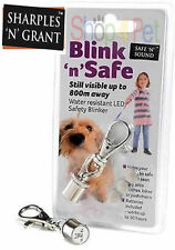 Blink 'n' Safe LED FLASHING LIGHT SAFETY BLINKER 4 DOG COLLARS, WATER RESISTANT