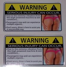 PAIR Sexy Vibration Warning Decal Sticker Can AM Commander Spyder Renegade UTV
