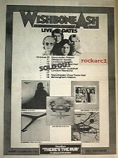 WISHBONE ASH There's The Rub Tour 1974 UK Poster size Press ADVERT 16x12""
