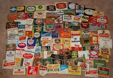 Set of 100 Vintage Beer Bottle Labels, includes  some IRTP, All UNUSED