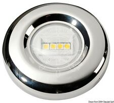 LED White Navigation Light Stainless Steel Case Stern 135 degrees  20m NAVSEA135