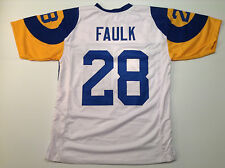 St. Louis Rams Marshall Faulk UNSIGNED CUSTOM White Jersey - XL