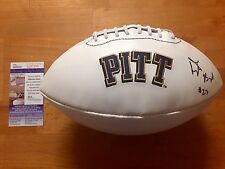 Tyler Boyd Signed Pittsburgh Panthers Logo Football JSA COA