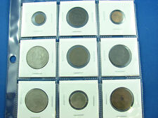 lot of 9 coins foreign world VF to UNC Chile mexico Spain Greece New Guinea