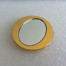 VINTAGE CHRISTIAN DIOR PARIS Gold Compact Oval Hand Mirror