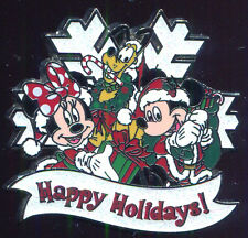 My First Christmas Starter Mickey Minnie Pluto Snowflake Disney Pin 93189