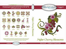 MYLAR CHERRY BLOSSOMS MULTI FORMAT MACHINE EMBROIDERY CD BY PURELY GATES USA