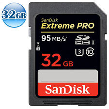 SANDISK EXTREME U3 PRO SDHC UHS-I CLASS 10 32GB 32G SD 4K 3D Memory Card 95MB/s*