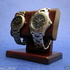 F/S 2 Wrist Watch Display Rack Holder Case Stand Tool Wooden Craft Made in Japan