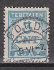 P69 Port 69 gestempeld TOP CANCEL GOUDA NVPH Nederland Netherlands due