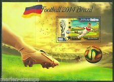MALDIVES 2014 SPORTS BRAZIL WORLD CUP SOCCER SOUVENIR SHEET