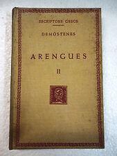 Escriptors Grecs,Arengues II Demostenes,F.Bernat Metge 1950
