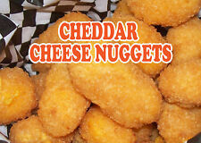 "CHEDDER CHEESE NUGGETS 14""x10"" STORE RETAIL FOOD COUNTER/WALL SIGN"
