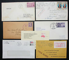 Postal History Set of 7 US Stamps Covers Letter Envelope FDC USA Brief (H-6978