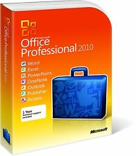 Microsoft Office 2010 Professional Plus 1PC completo para Windows Licencia De Por Vida