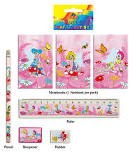 24 Fairy Stationery Sets:  Rubber, Ruler, Pencil, Notepad, Sharpener - Wholesale