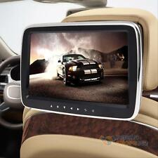 "10"" HD Digitl LCD Screen Car Headrest Monitor USB/SD MP5 Player IR/FM Game Media"