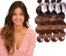 8A 300g/3bundles Unprocessed Brazillian Ombre 4/30 Bodywave Human Hair 18inches