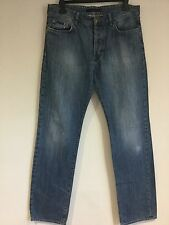 Ladies Men's Unisex Jeans W34 L34 CALVIN KLEIN Button Fly 100% Cotton Straight