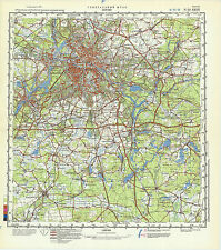 Russian Soviet Military Topographic Map – BERLIN (Germany) 1:200000, ed. 1987