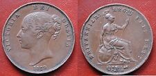 "MONETA COIN MEDAL MEDAILLE BRITANNIAR:REG:FID:DEG: ""PENNY OF VICTORIA"" 1859"
