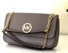 NWT MICHAEL KORS FULTON 38S3XFTF1L Small Leather Shoulder Purse Bag Taupe $228