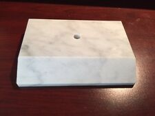 Imported Carrara White Marble Trophy/Lamp Base -  Made in Italy