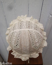 Coiffe Régionale Ancienne Bonnette Dentelle & Broderie /French Lace embroidery 7