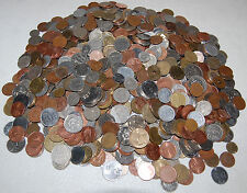 10 (TEN) POUNDS OF BULK WORLD COIN, MANY COUNTRIES, 80-100 PER POUND / LOW PRICE