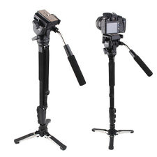 Yunteng C288 Pro Monopod+Fluid Pan Head Ball+Unipod Holder for Canon Nikon DSLR