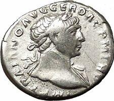 Trajan 103AD Unlisted Silver Ancient Roman Coin Pax Peace Cult RARE i53284