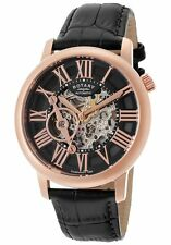 NEW ROTARY GLE000017/10 MENS ROSE GOLD SKELETON WATCH - 2 YEARS WARRANTY